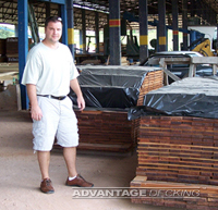 Owner Rob Pelc at a mill in Brazil
